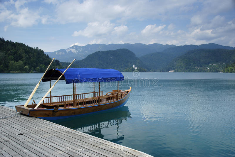 Słoweński jezioro zdjęcia royalty free