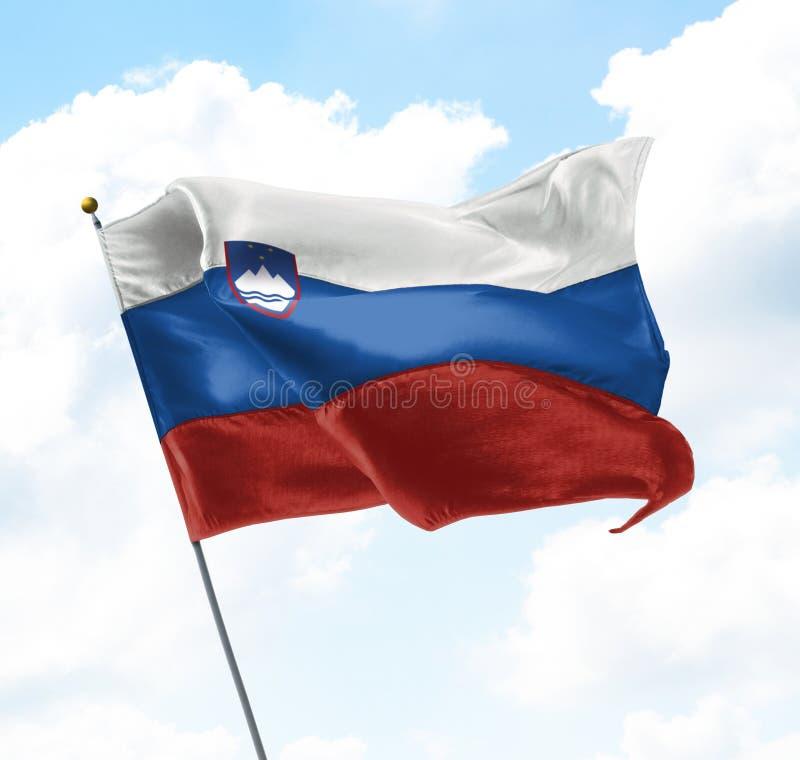 Słowenia bandery zdjęcia royalty free