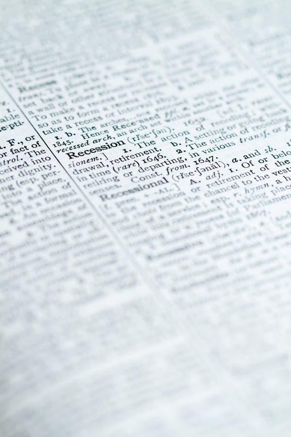 słowników słowa zdjęcia stock