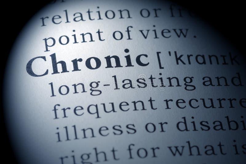 Słownik definicja chroniczny obraz royalty free