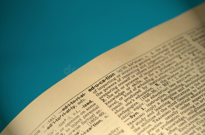 słownik edukacja fotografia stock