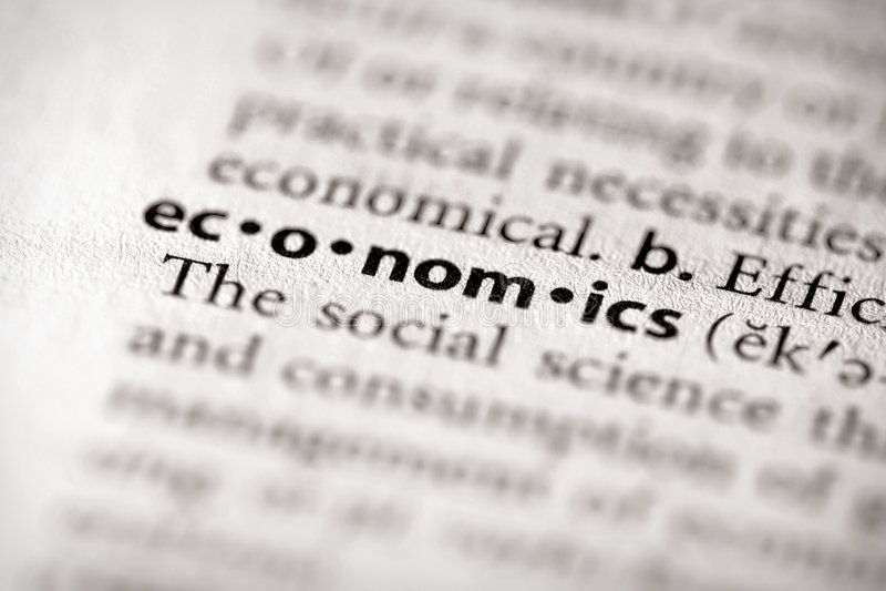 słownik ekonomii serii obraz royalty free