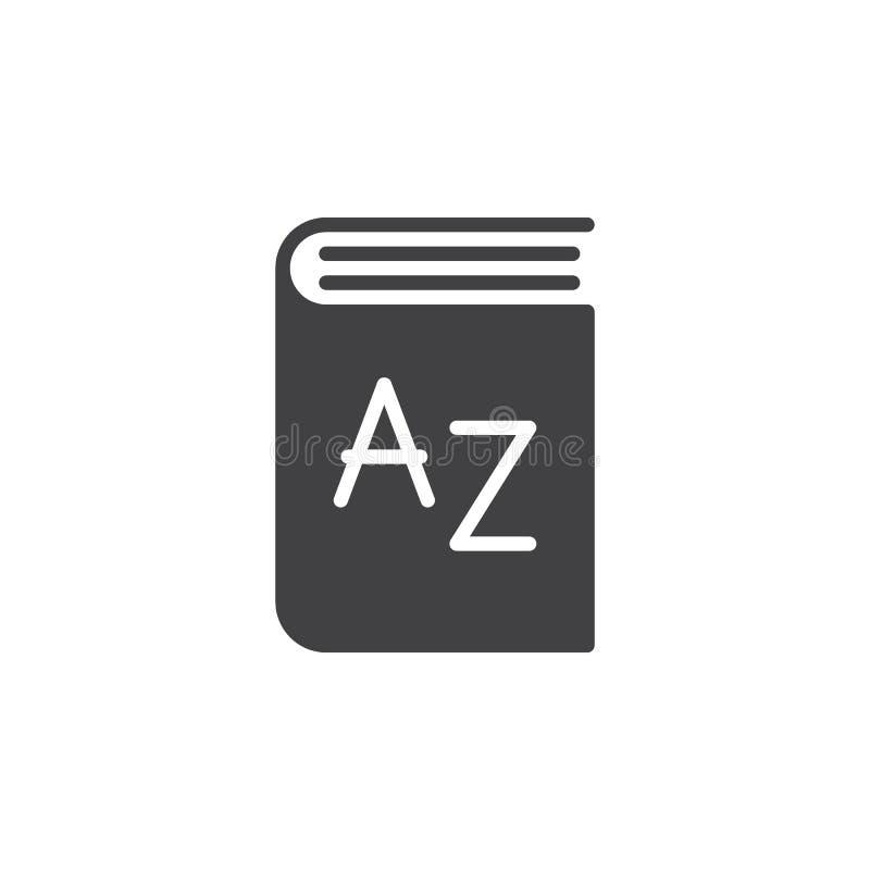 Słownik ikony wektor, wypełniający mieszkanie znak, stały piktogram odizolowywający na bielu ilustracja wektor