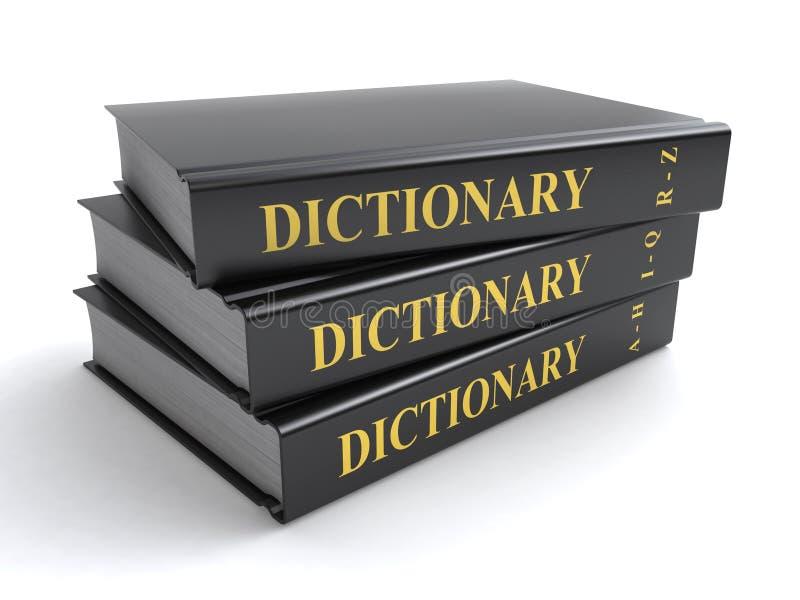Słownik książki ilustracja wektor