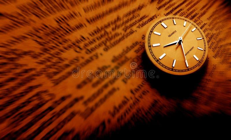 słownik zegara ilustracja wektor