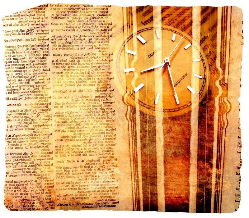 słownik zegara ilustracji