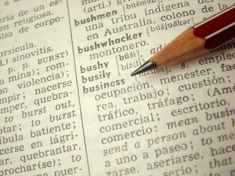 słownika biznesowy słowo zdjęcia royalty free
