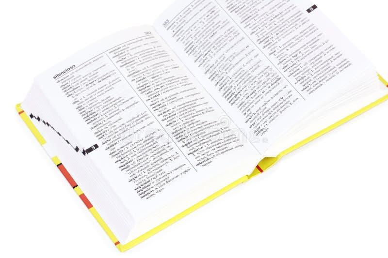 słownika spanish obrazy royalty free