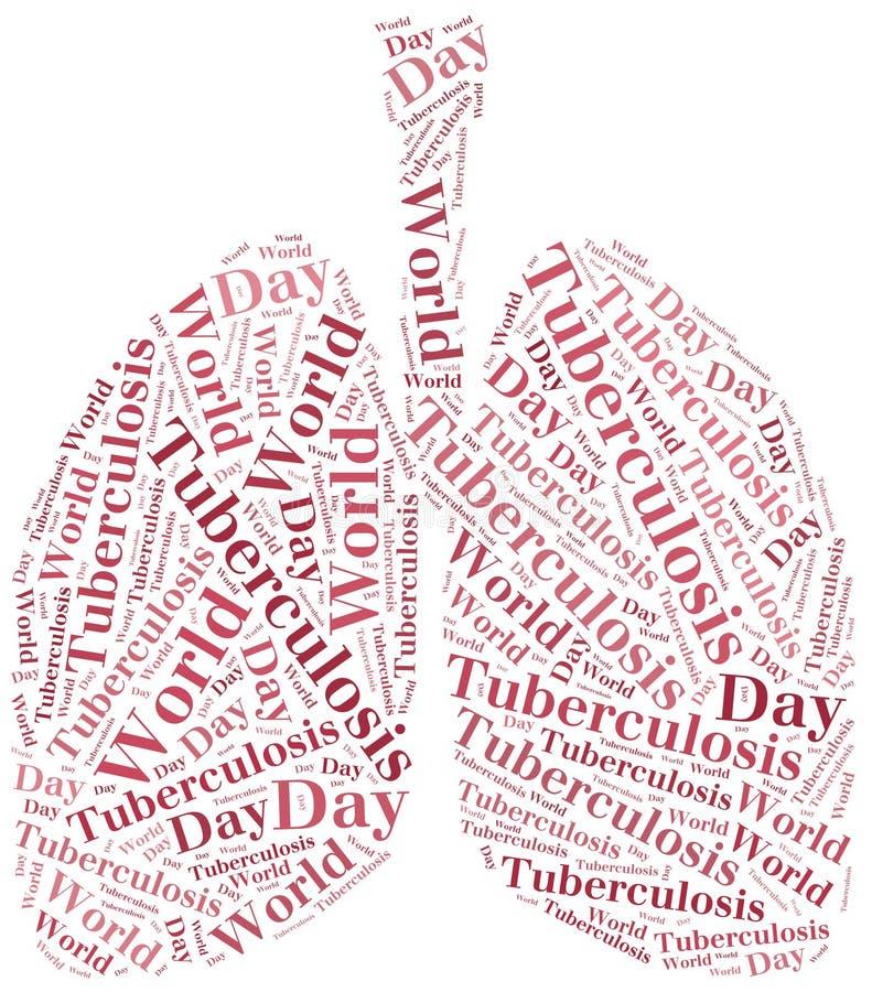 Słowo Światowej gruźlicy obłoczny dzień odnosić sie. ilustracji