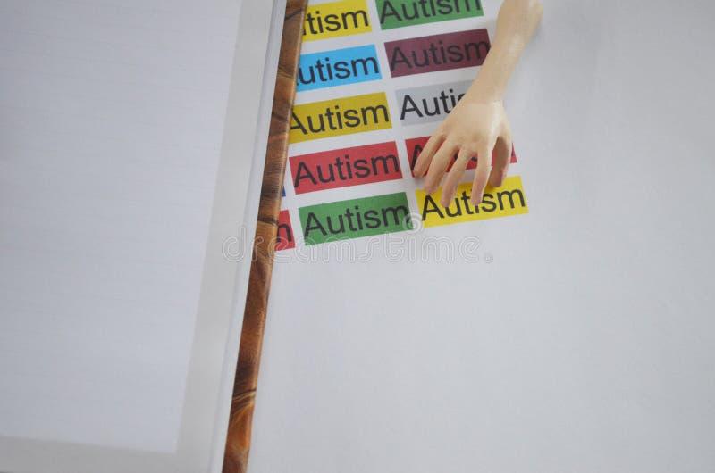 Słowo autyzm, zamyka up obrazy stock