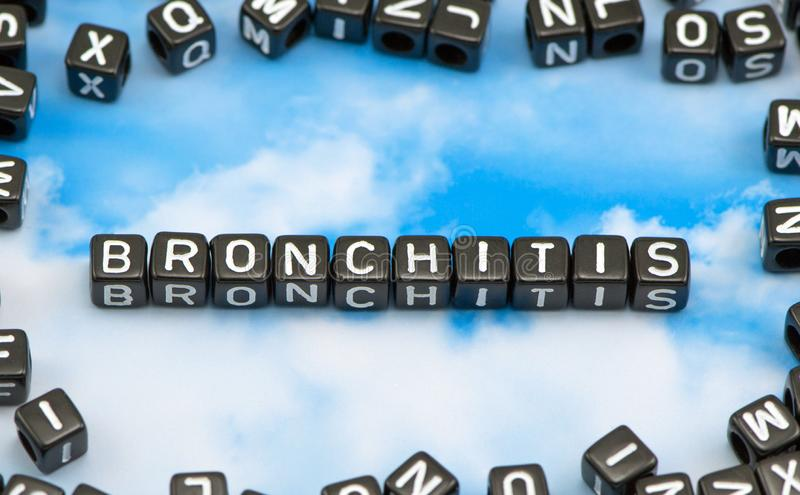 Słowo bronchit fotografia stock
