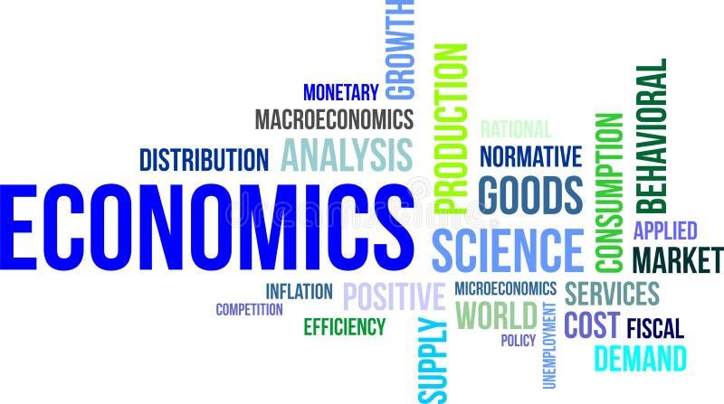 Słowo chmura - ekonomie ilustracja wektor