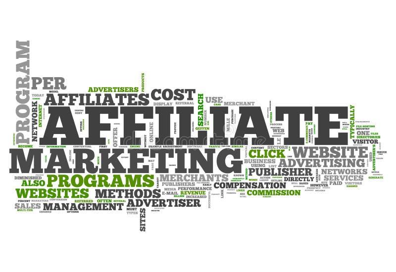 Słowo chmury filii marketing royalty ilustracja