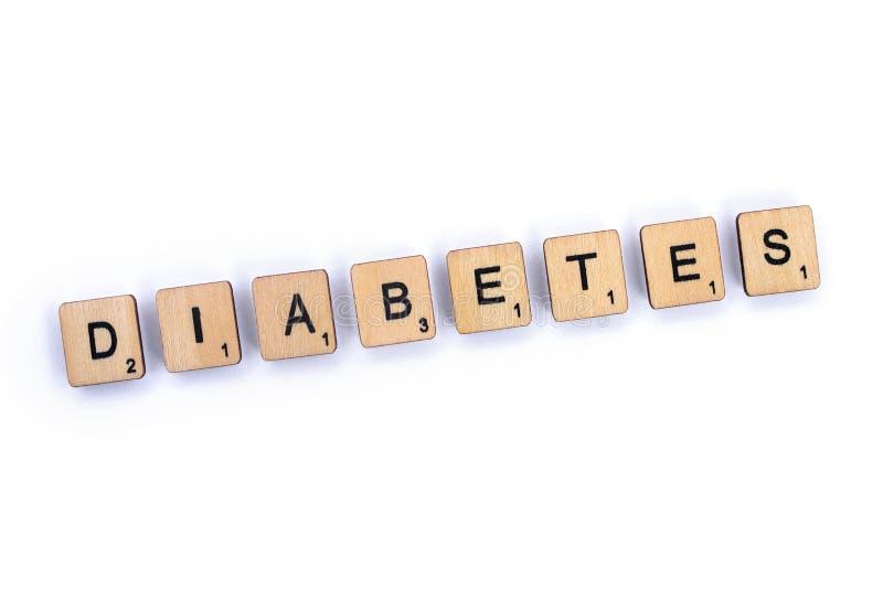 Słowo cukrzyca obraz stock