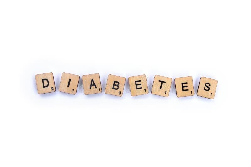 Słowo cukrzyca zdjęcie stock
