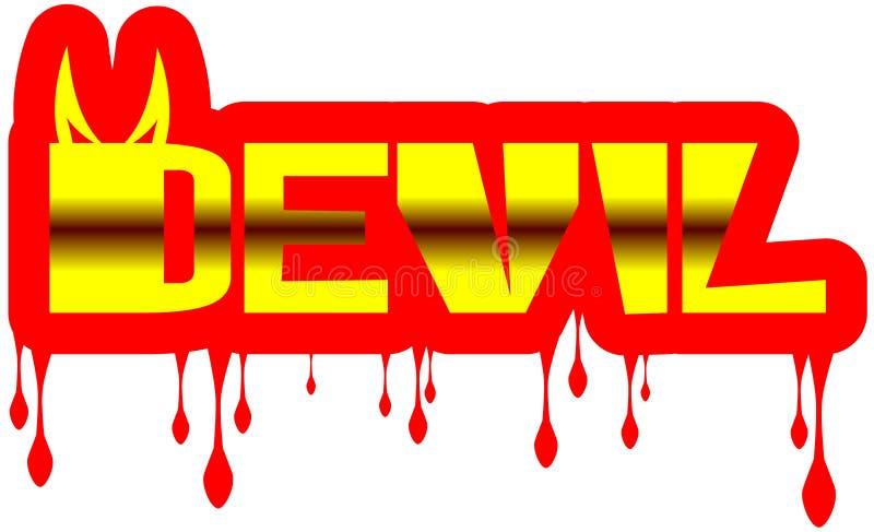 Słowo diabeł ilustracja wektor