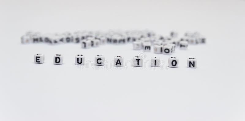 Słowo edukacja zdjęcie royalty free