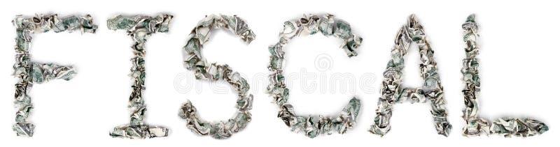Fiskalny - Crimped 100$ rachunki obraz stock