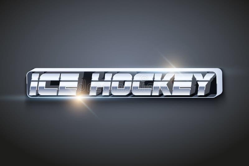 Słowo hokej Symbol sport royalty ilustracja