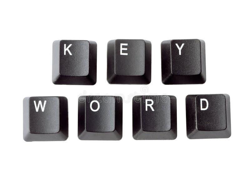 słowo kluczowe obraz stock