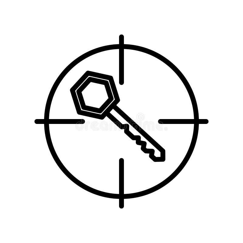 Słowo kluczowe ikony wektoru znak i symbol odizolowywający na białym tle royalty ilustracja