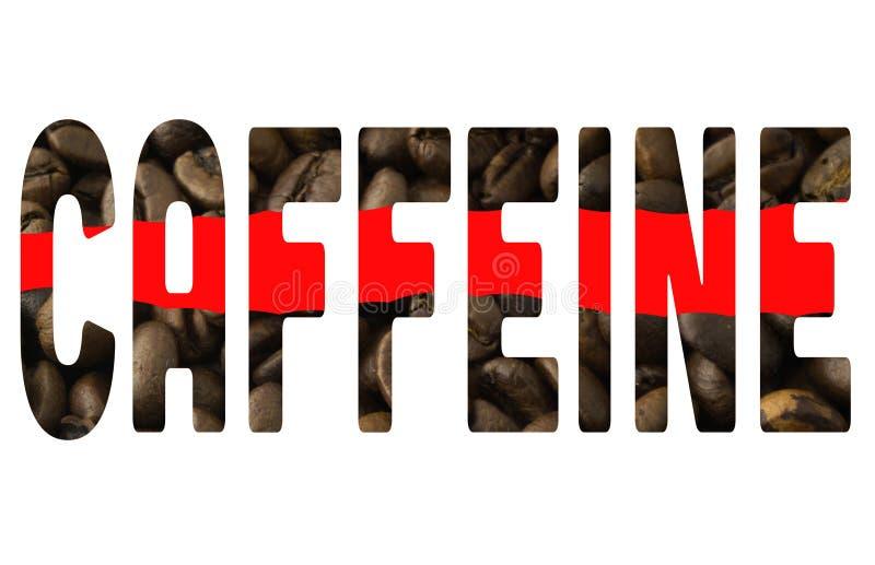 Słowo kofeina obraz royalty free