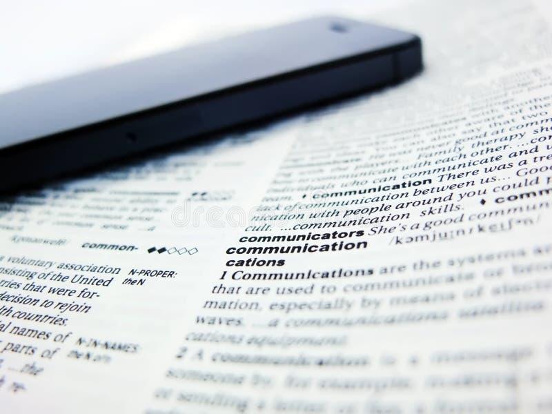 Słowo komunikacja obraz stock
