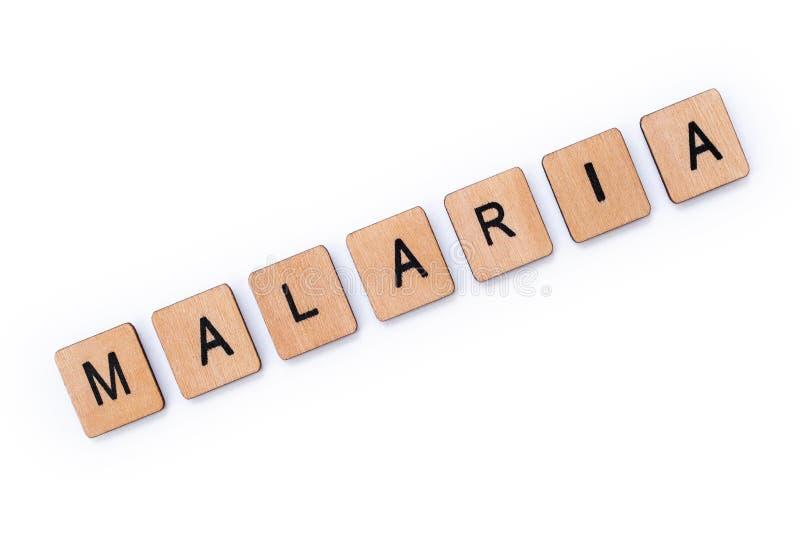 Słowo malaria zdjęcia royalty free