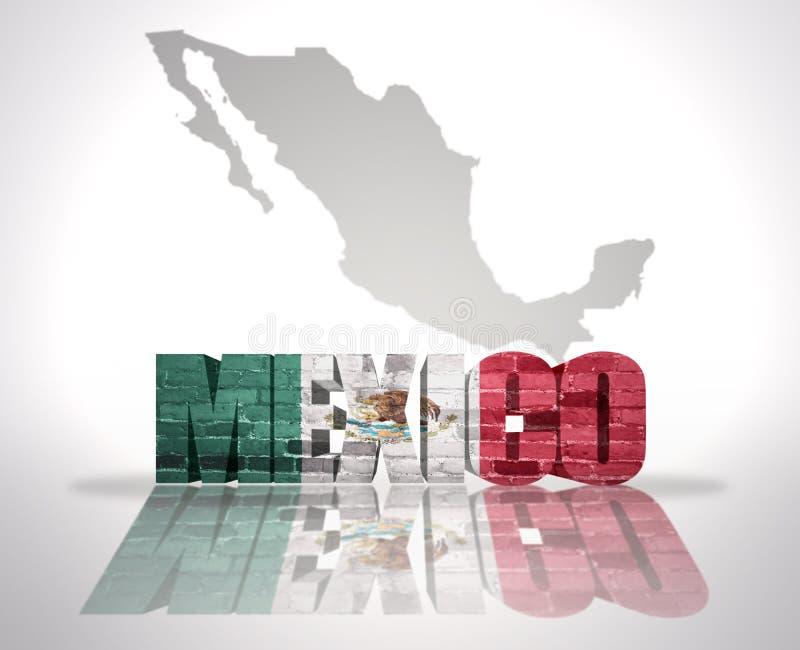 Słowo Meksyk na mapy tle royalty ilustracja