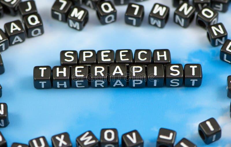 Słowo mowy terapeuta zdjęcie stock