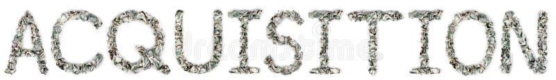Nabycie - Crimped 100$ Rachunki Zdjęcia Stock