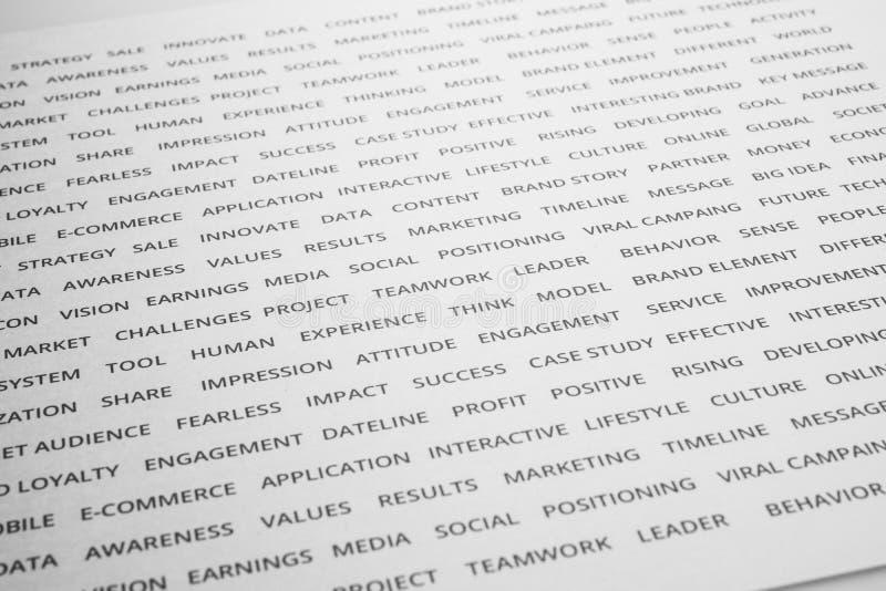 Słowo oznakuje na papierze strategia biznesowa Marketingowy sukces zdjęcia royalty free