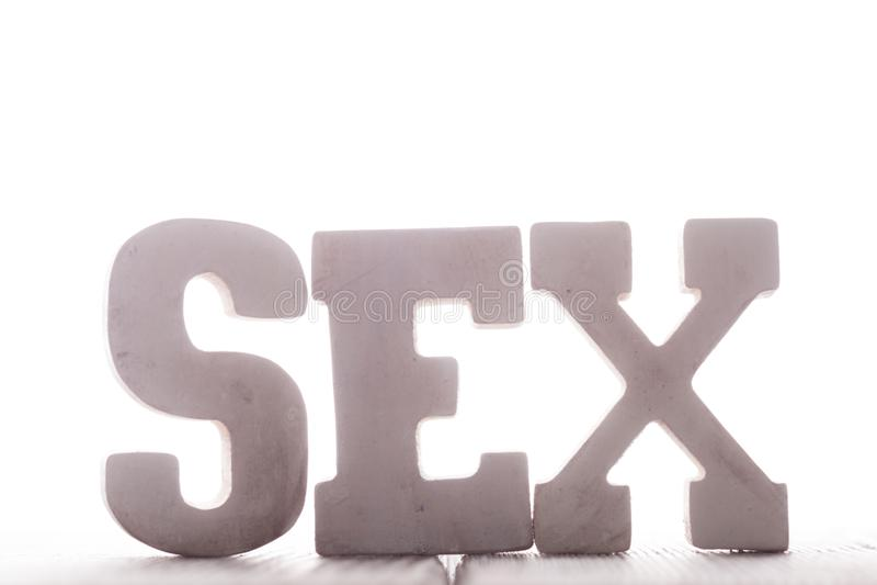 Słowo płeć zdjęcie stock