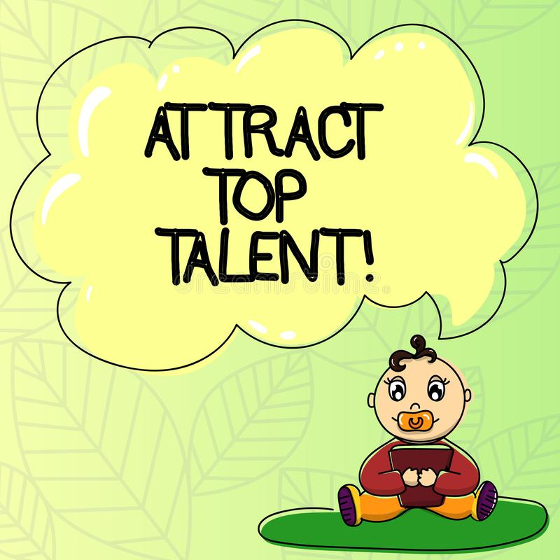 Słowo pisze tekscie Przyciąga Odgórnego talent Biznesowy pojęcie dla wyznaczać pracownika który umiejętności i dobrego potencjaln ilustracja wektor