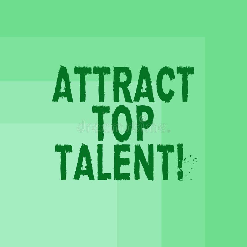 Słowo pisze tekscie Przyciąga Odgórnego talent Biznesowy pojęcie dla wyznaczać pracownika który umiejętności i dobrego potencjaln ilustracji