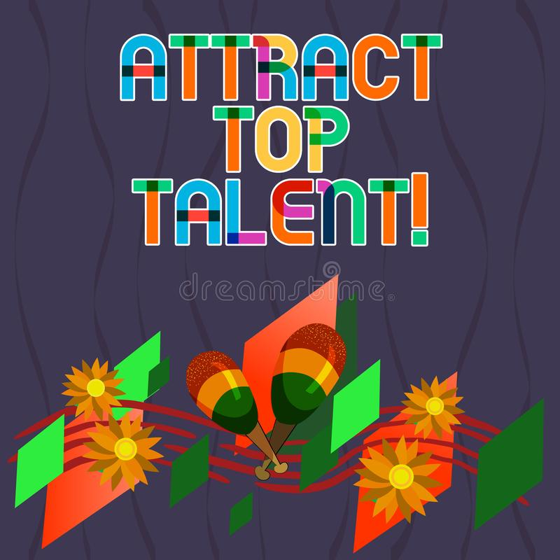 Słowo pisze tekscie Przyciąga Odgórnego talent Biznesowy pojęcie dla wyznaczać pracownika który umiejętności i dobry potencjalny  ilustracji
