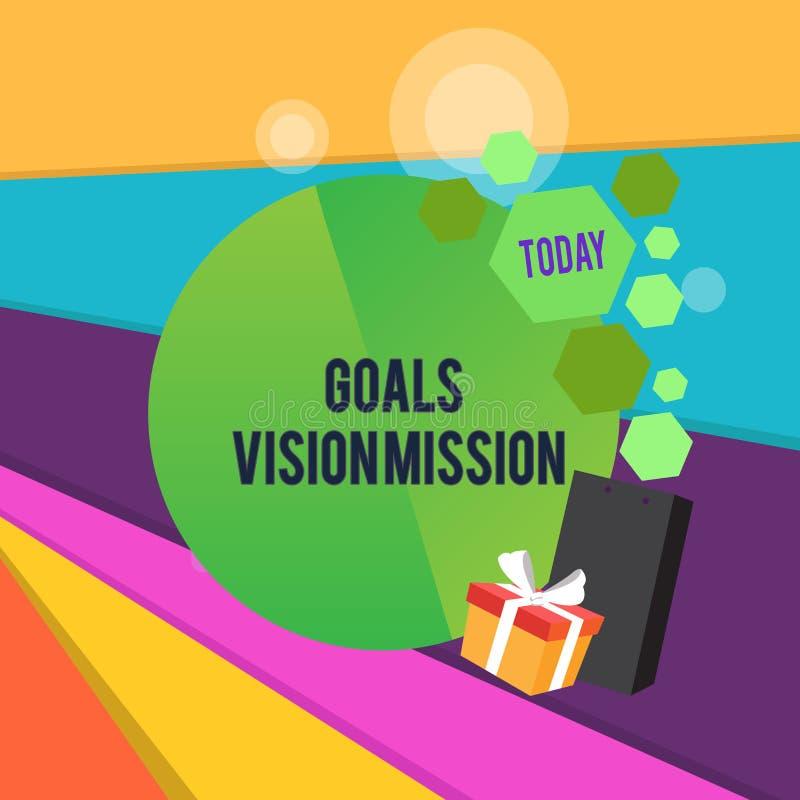 Słowo pisze tekstów celów wzroku misji Biznesowy pojęcie dla praktycznego proces planowania używać pomagać społeczności grupy ilustracji