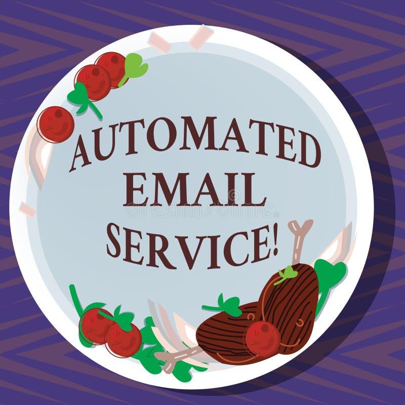 Słowo pisze tekst Automatyzującej poczty elektronicznej Biznesowy pojęcie dla automatyczny podejmowanie decyzji opierający się na ilustracji