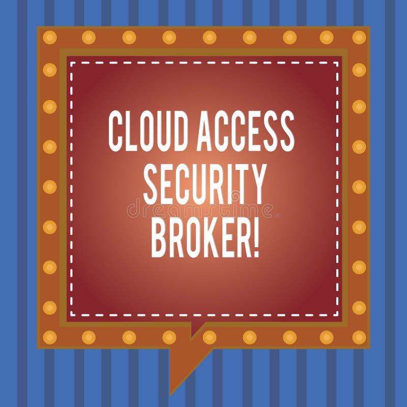 Słowo pisze tekst chmury dostępu ochrony maklera Biznesowy pojęcie dla Zbawczego biznesowego handlarskiego nowożytnego kartoteka  royalty ilustracja