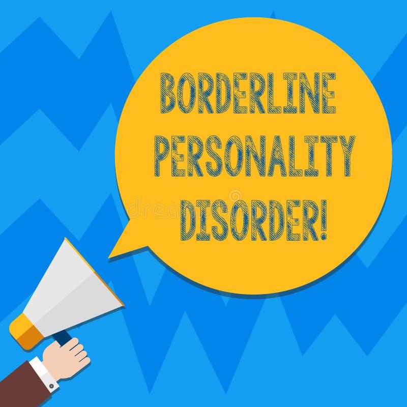 Słowo pisze tekst granicy osobowości nieładzie Biznesowy pojęcie dla zaburzenia psychiczne zaznaczającego niestałymi nastrojami H royalty ilustracja