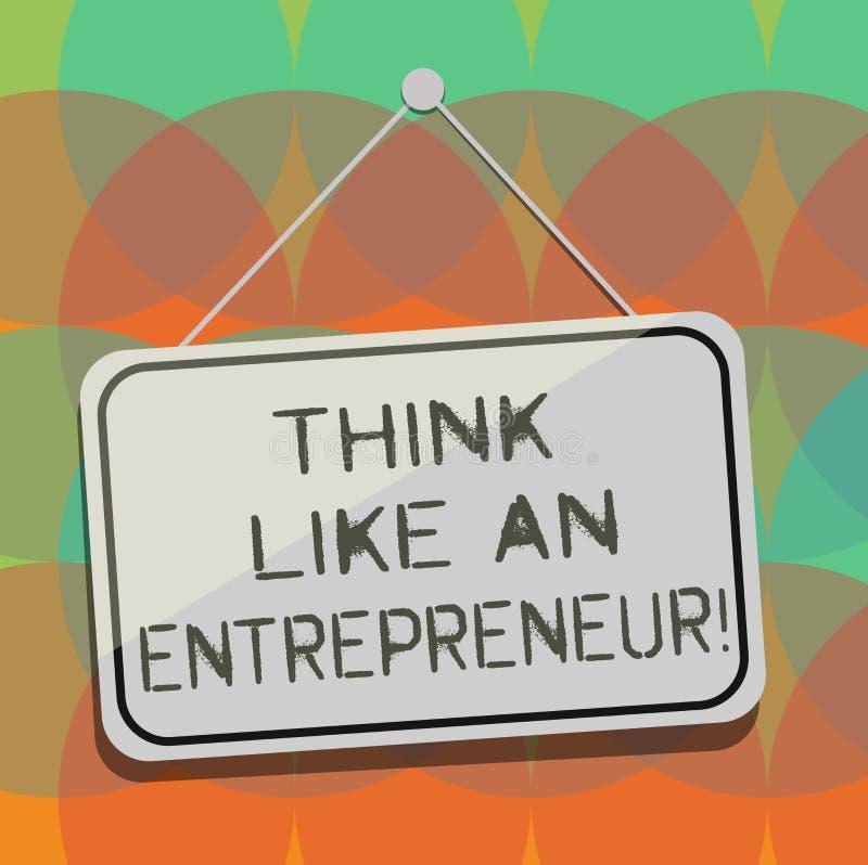 Słowo pisze tekst myśli Jak przedsiębiorca Biznesowy pojęcie dla przedsiębiorczość umysł Zaczynać w górę strategii pustego miejsc ilustracji