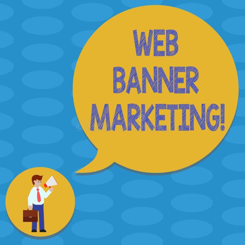 Słowo pisze tekst sieci sztandaru marketingu Biznesowy pojęcie dla powoduje osadzać reklamę w strona internetowa mężczyźnie wewną ilustracja wektor