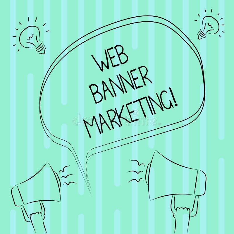 Słowo pisze tekst sieci sztandaru marketingu Biznesowy pojęcie dla powoduje osadzać reklamę w stronie internetowej Freehand royalty ilustracja