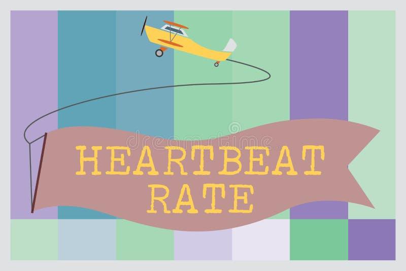 Słowo pisze teksta bicie serca tempie Biznesowy pojęcie dla wymierzonego liczbą czasy serce skraca na minutę royalty ilustracja