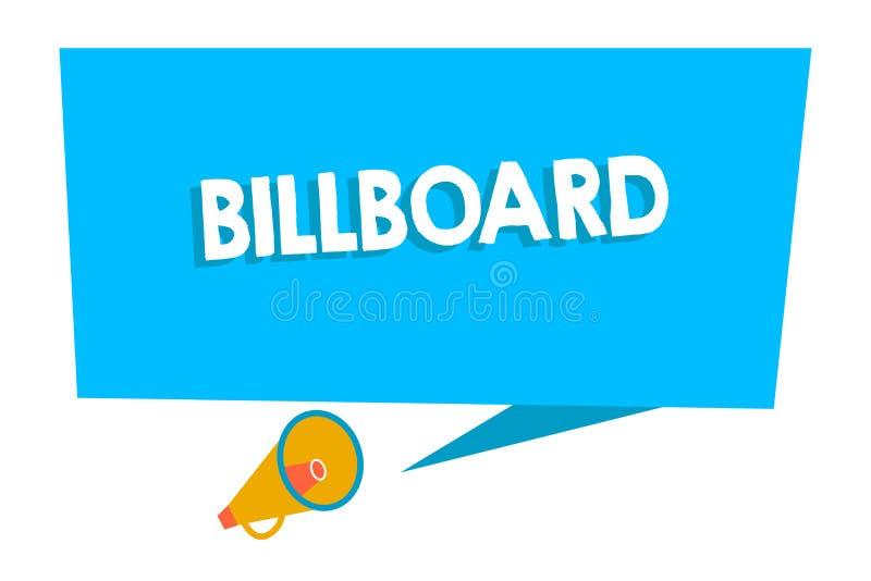Słowo pisze teksta billboardzie Biznesowy pojęcie dla wielkiej plenerowej deski dla wystawiać reklamy gromadzenia puste miejsce royalty ilustracja