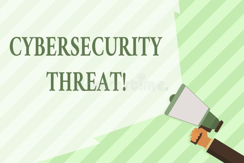 Słowo pisze teksta Cybersecurity zagrożeniu Biznesowy pojęcie dla potencjału powodować poważną krzywdę system komputerowy ilustracja wektor