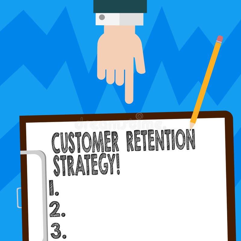 Słowo pisze teksta klienta retencji strategii Biznesowy pojęcie dla akcji utrzymywać jako analysisy klienci jako ewentualny Hu ilustracji