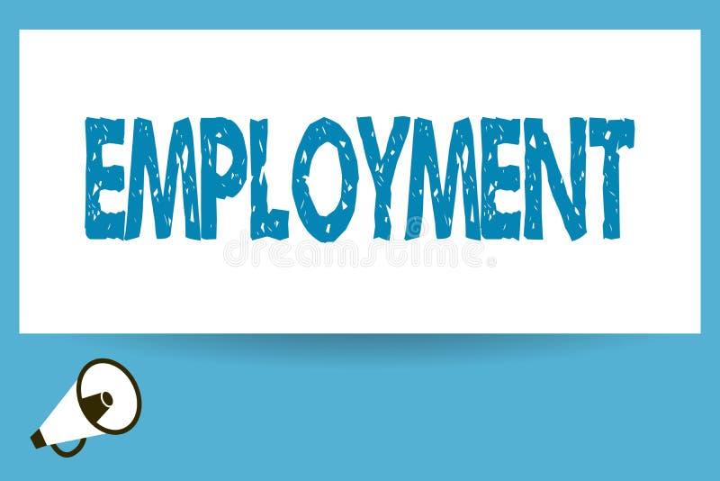 Słowo pisze teksta zatrudnieniu Biznesowy pojęcie dla stanu płacić pracy zajęcia spożytkowanie coś ilustracja wektor
