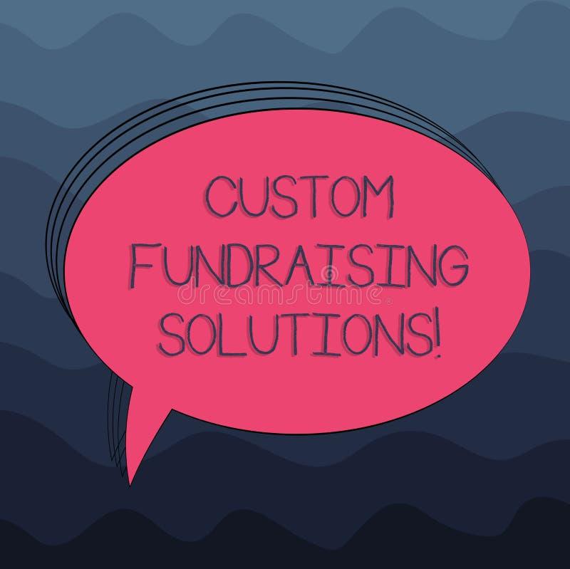 Słowo pisze teksta zwyczaju Gromadzi fundusze rozwiązaniach Biznesowy pojęcie dla oprogramowania pomagać podnosić pieniądze onlin ilustracji