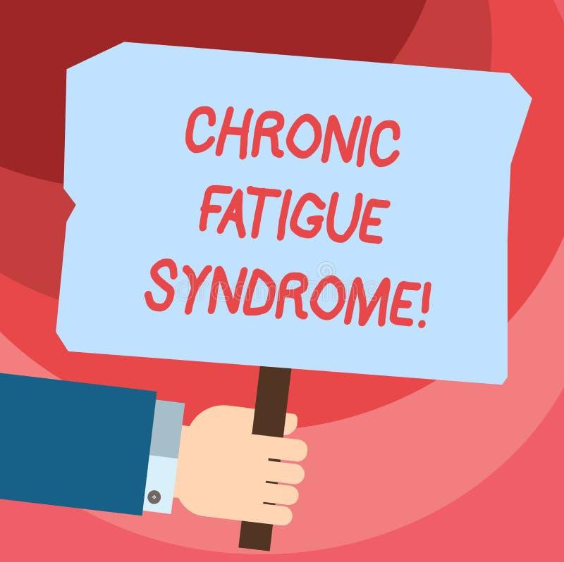 Słowo pisze tekstowi Chronicznym zmęczenie syndromu Biznesowy pojęcie dla osłabiającego nieładu opisującego krańcowym zmęczeniem  ilustracja wektor